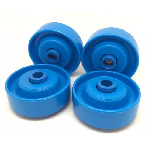 Lot de 4 Roulettes Plastique KLR-480.02.8 Axe de 8 mm Billes Acier