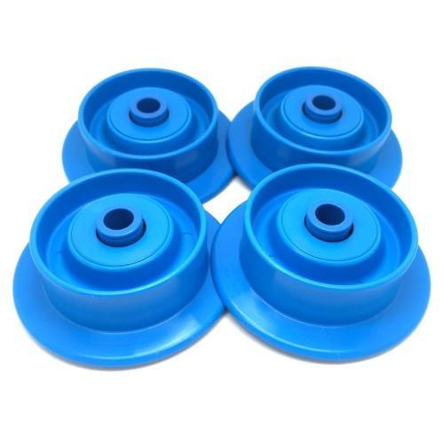 Lot de 4 Roulettes Plastique SR-480038 avec Billes Acier Inox - Axe de 8 mm