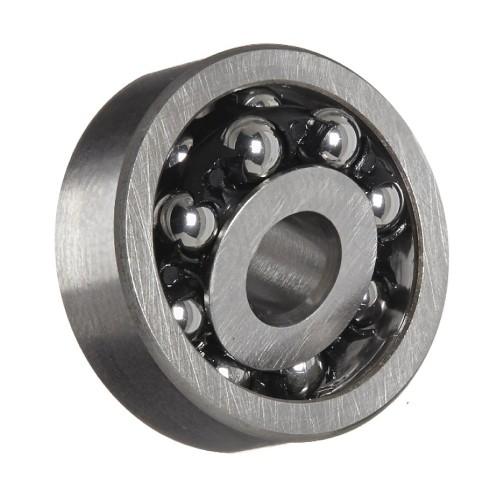Roulement à rotule sur billes 1203 TNGC3 à alésage cylindrique à double rangée, auto-aligneur (Cage polyamide, Jeu C3)
