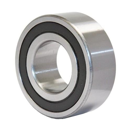 Roulement à rotule sur billes 2201 2RSRTNGC3 à alésage cylindrique à double rangée, auto-aligneur (Joint double contact,
