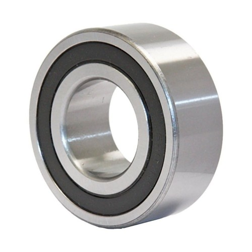Roulement à rotule sur billes 2207 2RSRTNGC3 à alésage cylindrique à double rangée, auto-aligneur (Joint double contact,