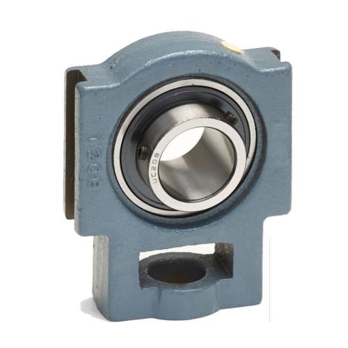 Coulisseaux tendeurs RTUE50  corps de palier en fonte, roulement auto-aligneur avec bague de blocage excentrée, étanchéité R