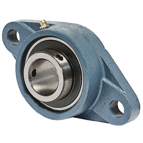 Paliers auto-aligneurs RCJT60 N  paliers appliques à 2 trous de fixation, fonte, bague de blocage excentrée, étanchéité R