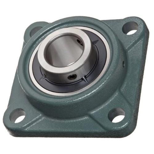 Paliers auto-aligneurs PCJ17  paliers appliques à 4 trous de fixation, fonte, bague de blocage excentrée, étanchéité P