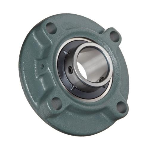 Paliers auto-aligneurs TFE50 N  paliers appliques à 4 trous de fixation, fonte, centrage, bague de blocage excentrée, étanc