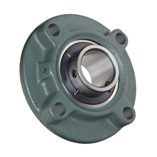 Paliers auto-aligneurs TME25 N  paliers appliques à 4 trous de fixation, fonte, centrage, bague de blocage excentrée, étanc