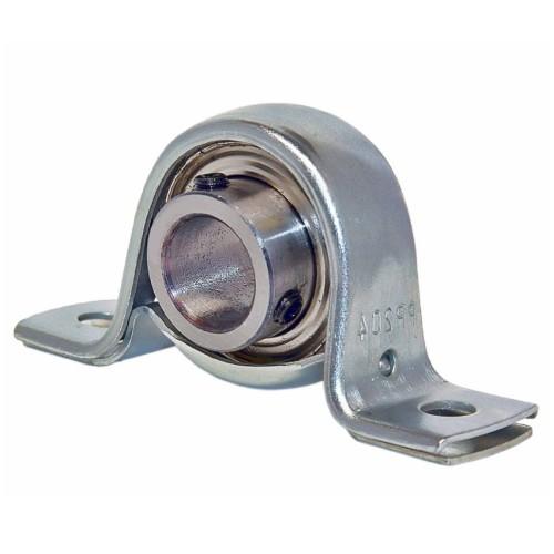 Paliers auto-aligneurs RAT25  paliers appliques à 2 trous de fixation, tôle d'acier, bague de blocage excentrée, étanchéi
