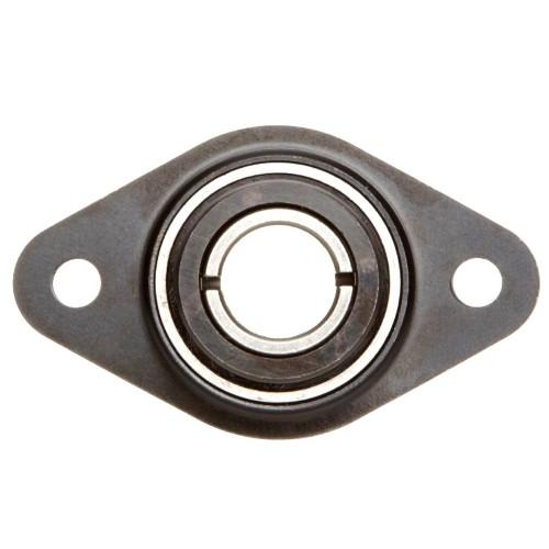 Paliers auto-aligneurs RATY35  paliers appliques à 2 trous de fixation, tôle d'acier, vis sans tête dans la bague intérieu