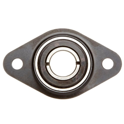 Paliers auto-aligneurs RCSMF12  paliers appliques à 2 trous de fixation, tôle d'acier, amortisseur en caoutchouc, bague de b