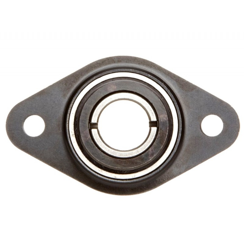 Paliers auto-aligneurs RCSMF25  paliers appliques à 2 trous de fixation, tôle d'acier, amortisseur en caoutchouc, bague de b