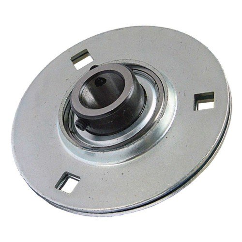 Paliers auto-aligneurs RAY15  paliers appliques à 3, 4 trous de fixation, tôle d'acier, vis sans tête dans la bague intéri