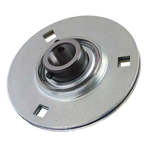 Paliers auto-aligneurs GRRY20 VA  paliers appliques à 3, 4 trous de fixation, tôle d'acier, vis sans tête dans la bague int