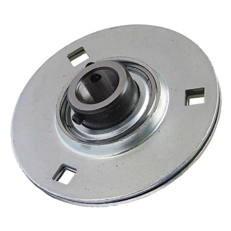 Paliers auto-aligneurs GRRY25 VA  paliers appliques à 3, 4 trous de fixation, tôle d'acier, vis sans tête dans la bague int