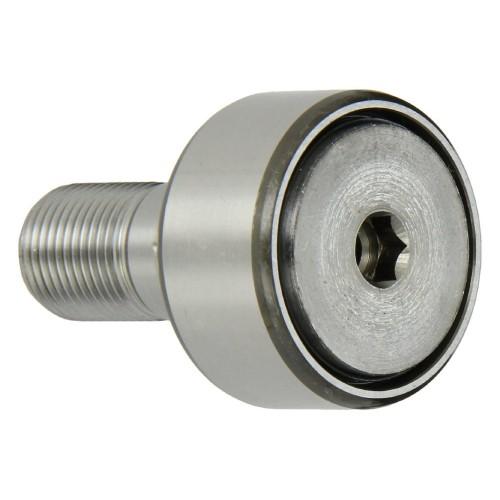 Galets de roulement sur axe KRV22 PP  avec guidage axial, à aiguilles jointives, rondelle de frottement en plastique des 2 c