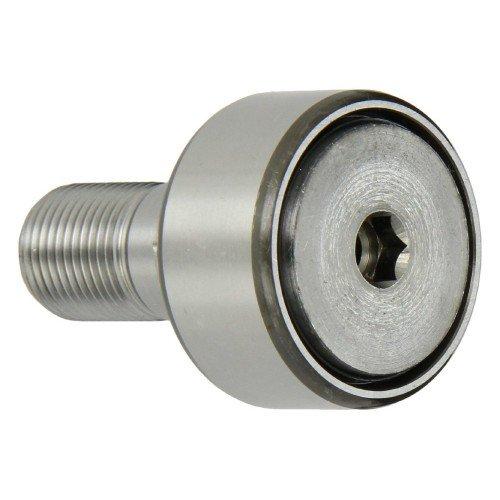 Galets de roulement sur axe KRV19 PP X  avec guidage axial, à aiguilles jointives, rondelle de frottement en plastique des 2