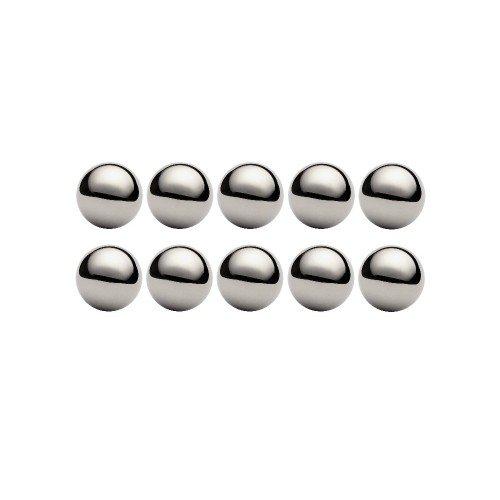 Lot de 10 billes diamètre  3,175 mm en acier au chrome 100 C6 Grade 100