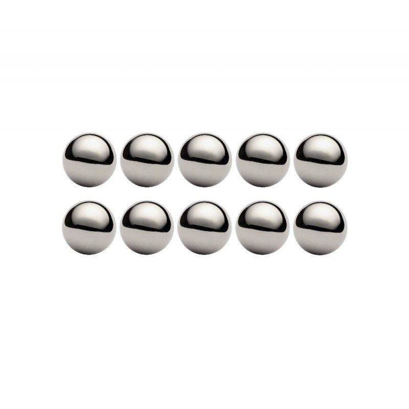 Lot de 10 billes diamètre  6,747 mm en acier au chrome 100 C6 Grade 100