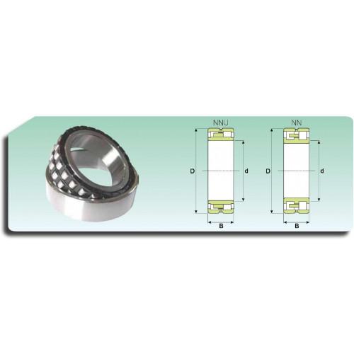 Roulement à 2 rangées de rouleaux cylindriques NN 3030 K/SPW33 (alésage conique, cage polyamide et rainure de graissage)