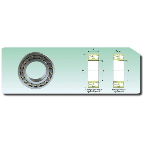 Roulement à rotule sur rouleaux alésage cylindrique 22214 C3 CAW33 (cage massive, jeu élargi et rainure de graissage)