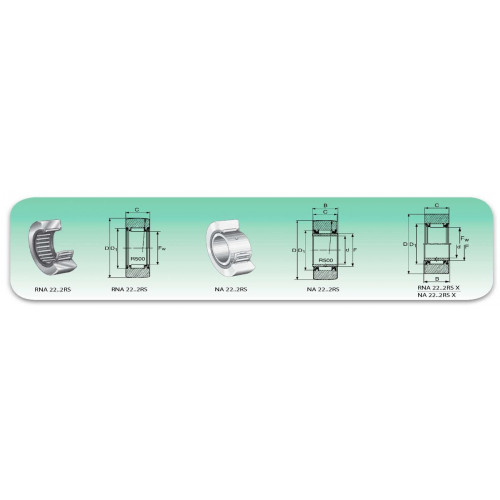 Roulement à aiguilles  NA 4908 2RS (2 joints étanches)