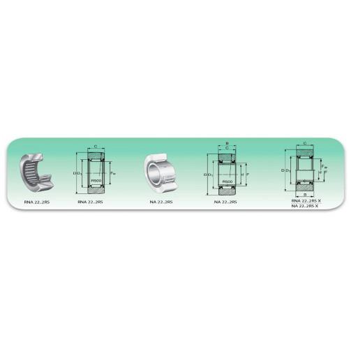 Roulement à aiguilles  NA 4909 2RS (2 joints étanches)