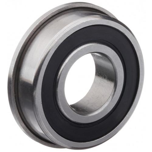 Roulement miniature SFR166 TTS (Inox avec joints en Téflon et collerette)