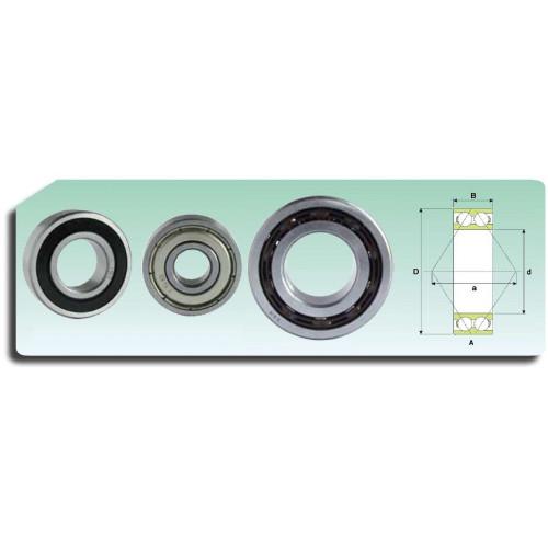 Roulement à 2 rangées de billes 3207-2RS ATN9 (étanche et cage polyamide)