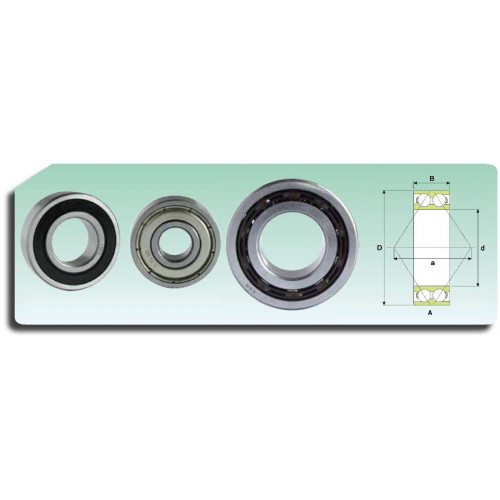 Roulement à 2 rangées de billes 3211-2RS ATN9 (étanche et cage polyamide)