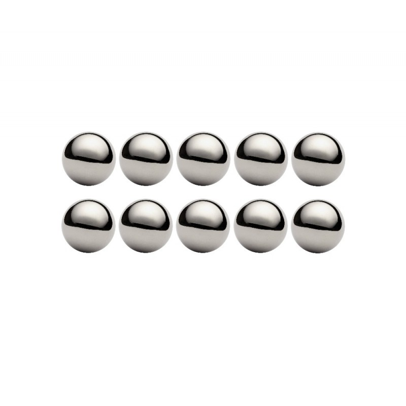 Lot de 10 billes diamètre  21,431 mm en acier au chrome 100 C6 Grade 100