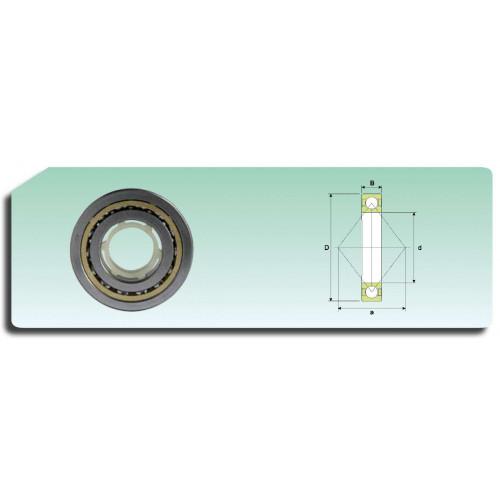 Roulement à billes à 4 points de contact QJ 210 N2MA (cage massive avec 2 fentes de positionnement sur la face latérale lar