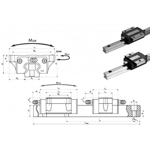 Chariot RSA 20 P0 N (sans précharge, précision normale)