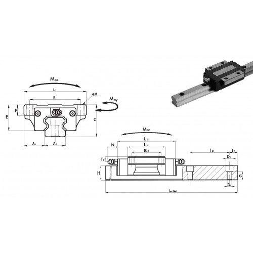Chariot SNA 15 P1 N (précharge légère, précision normale)