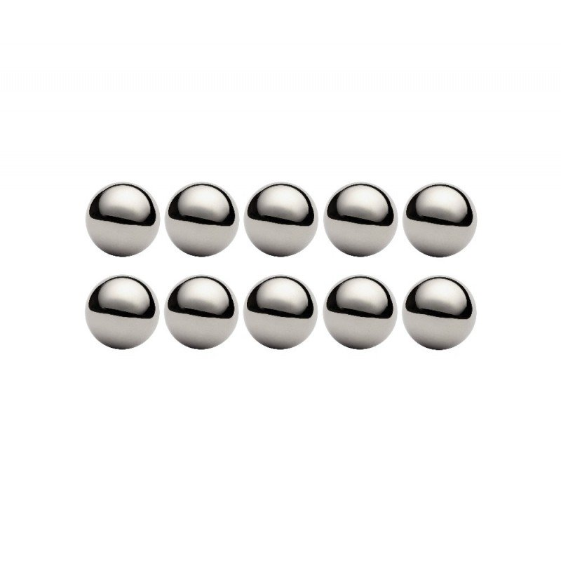 Lot de 10 billes diamètre  23,812 mm en acier au chrome 100 C6 Grade 100