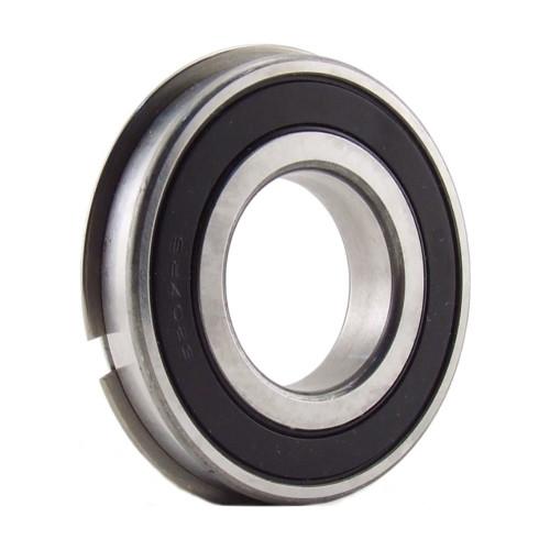 Roulement rigides à billes 6206 2RS1NR à une rangée (Joints d'étanchéité à frottement en caoutchouc acrylonitrile-buta