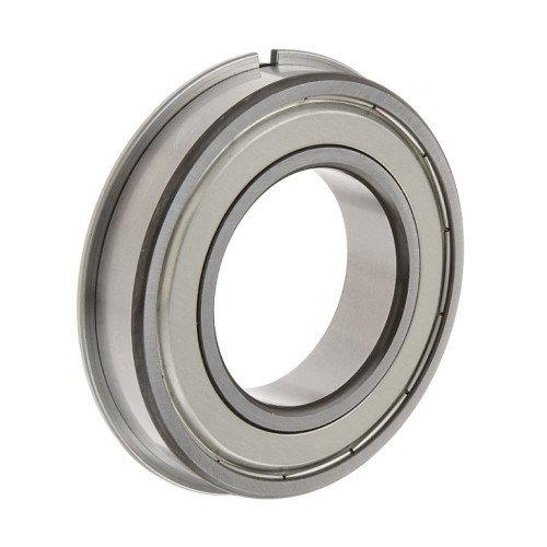 Roulement rigides à billes 6306 ZNR à une rangée (Flasque en tôle d'acier emboutie d'un côté du roulement, bague extér
