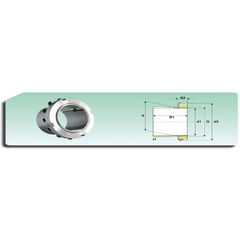 Ecrou de serrage  KM 10 avec rondelle de blocage MB 10