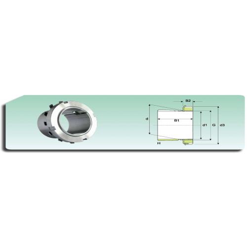 Ecrou de serrage  KM 14 avec rondelle de blocage MB 14