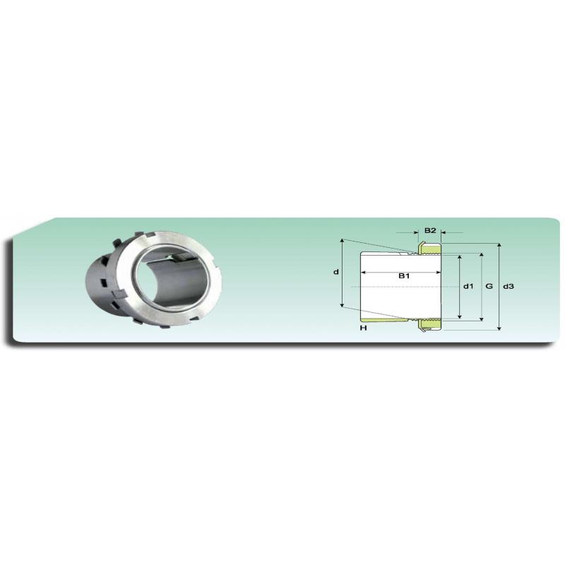 Ecrou de serrage  KM 23 avec rondelle de blocage MB 23