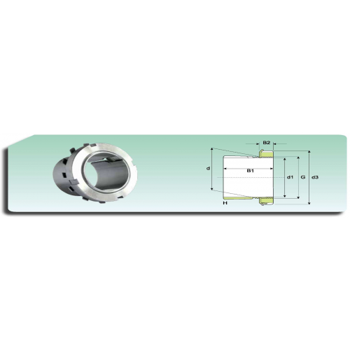 Ecrou de serrage KM 28 avec rondelle de blocage MB 28