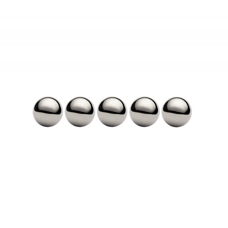 Lot de 5 billes diamètre  38,1 mm en acier au chrome 100 C6 Grade 100