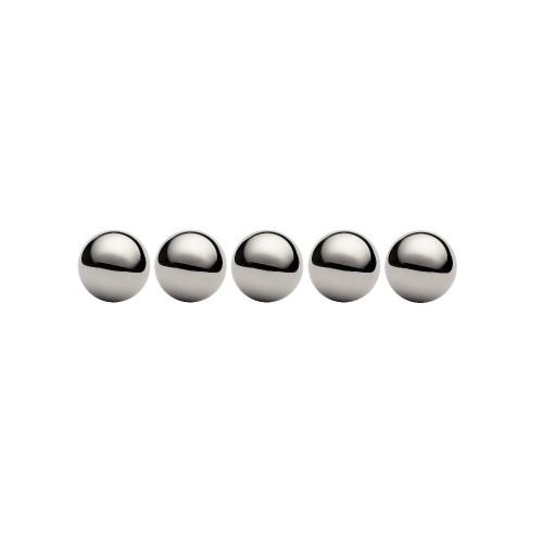 Lot de 5 billes diamètre  42,862 mm en acier au chrome 100 C6 Grade 100