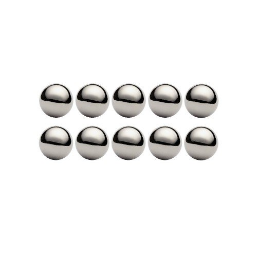 Lot de 10 billes diamètre  2 mm en acier inox AISI 316 Grade 100