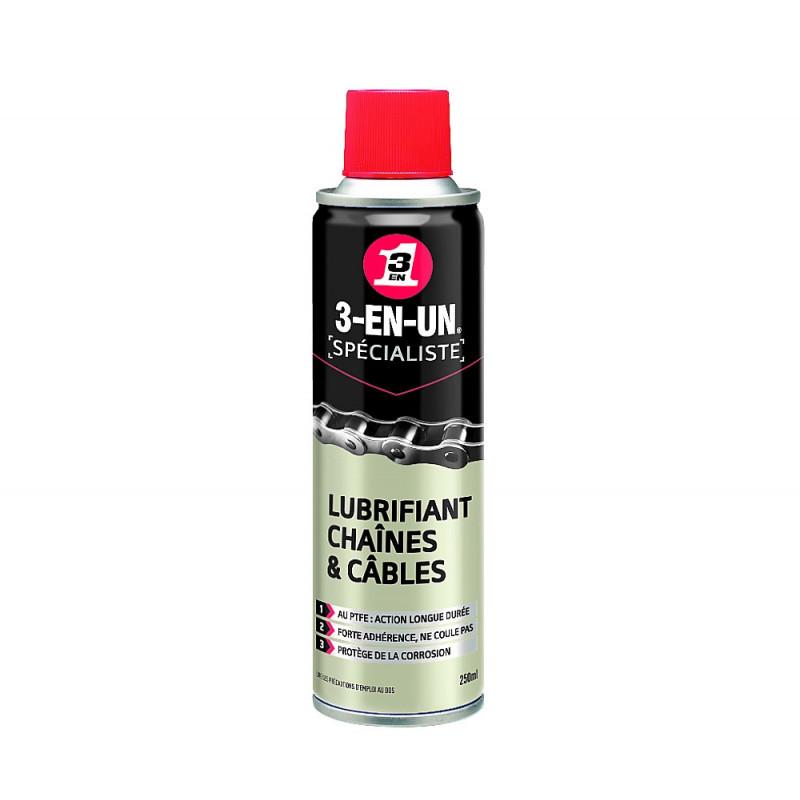 Bombe de lubrifiant Chaînes et Câbles 250 ml