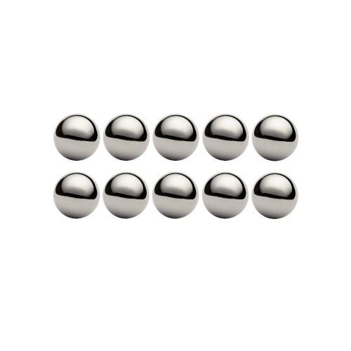 Lot de 10 billes diamètre  9,525 mm en acier inox AISI 316 Grade 100