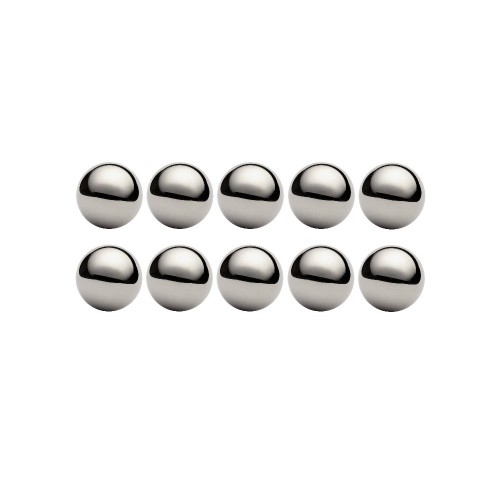 Lot de 10 billes diamètre  12 mm en acier inox AISI 316 Grade 100